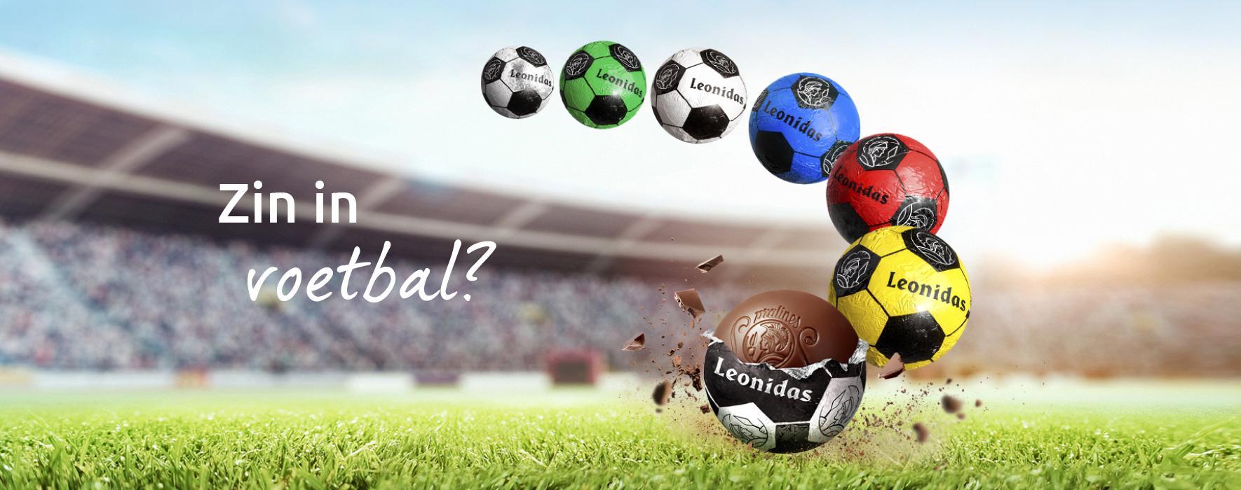 Leonidas Voetbal Assortiment | Snel Levering | LEONIDAS ONLINE