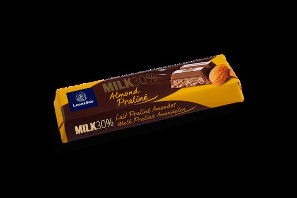 Barre Chocolatée Lait Praliné Amandes