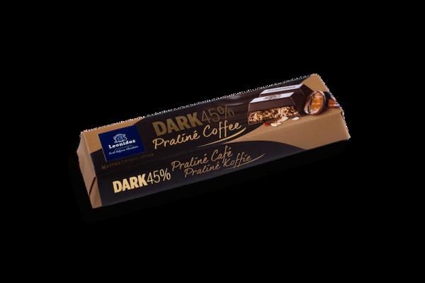 Barre Chocolatée Noir Praliné Café