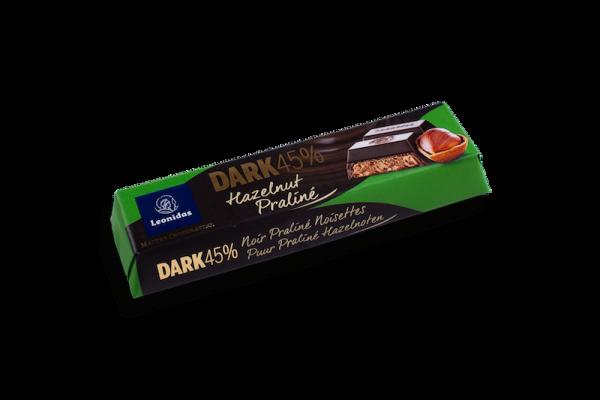 Barre Chocolatée Noir Praliné Noisettes