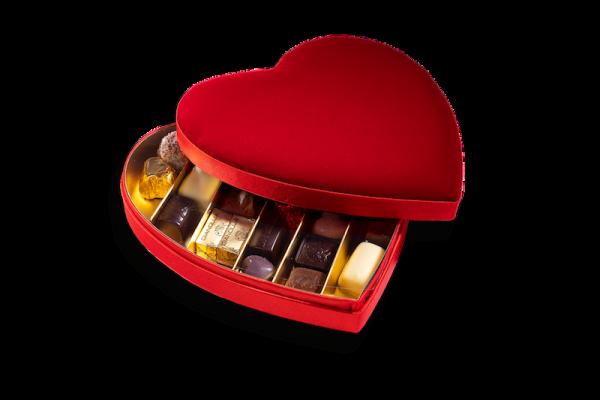 Boîte Coeur Velours M
