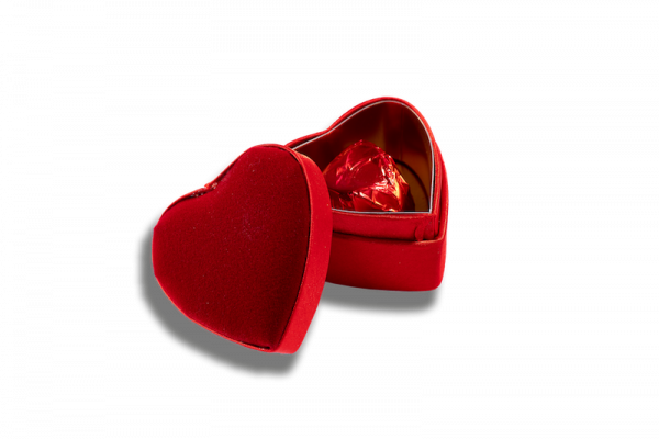 Boîte Coeur Velours XS