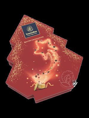 Leonidas Boîte Sapin Noël Assortiment Pralines/Chocolats