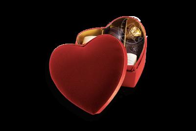 Boîte Coeur Velours Double