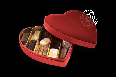 Boîte Coeur Velours S