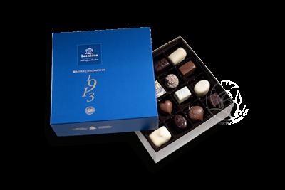 Boîte Santiago Bleue Assortiment Pralines/Chocolats