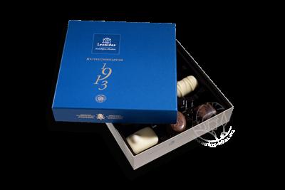 Boîte Togo Bleue Assortiment Pralines/Chocolats