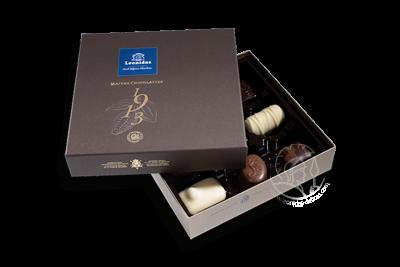 Boîte Togo Brune Assortiment Pralines/Chocolats