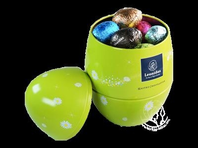 Leonidas Boîte Oeuf Métal de Pâques